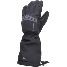 Sealskinz Waterproof Extreme Cold Weather Reflective Gauntlet Guantes, black